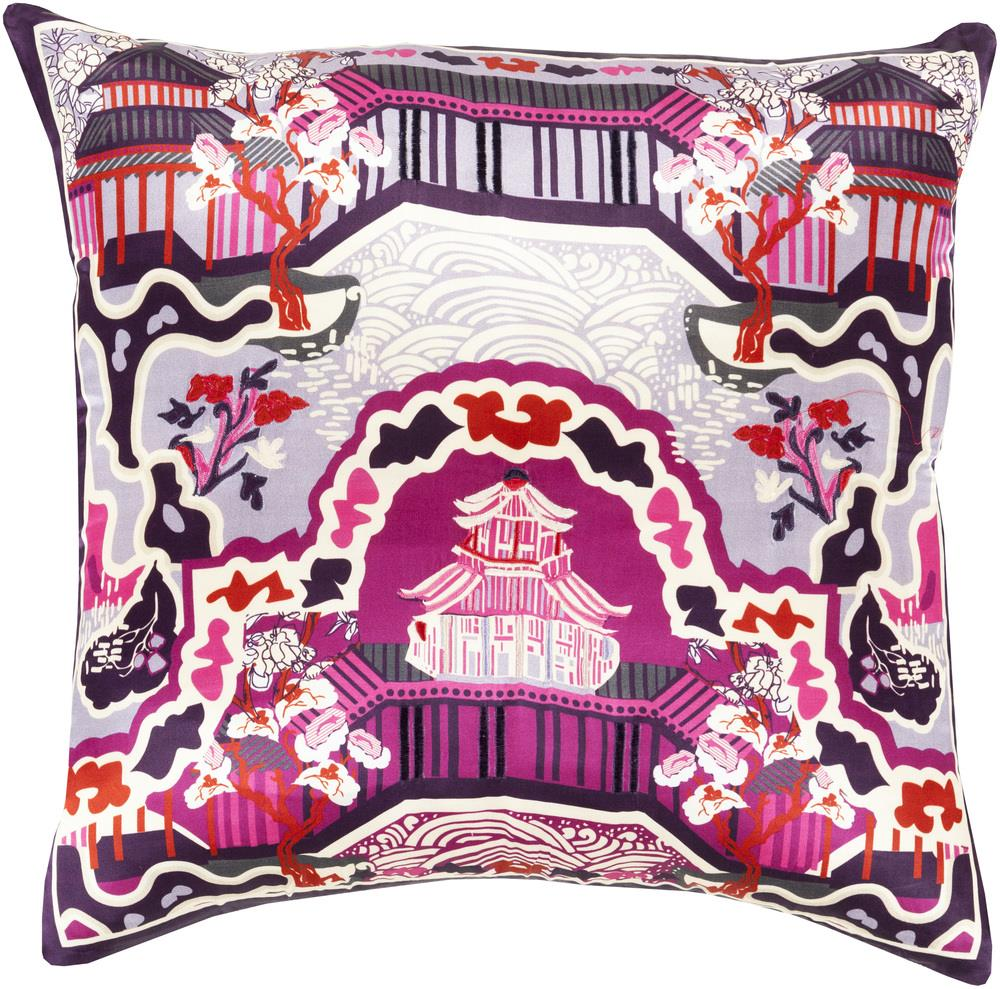 "Surya Pillows 18"" x 18"" Decorative Pillow - Item Number: GE012-1818P"