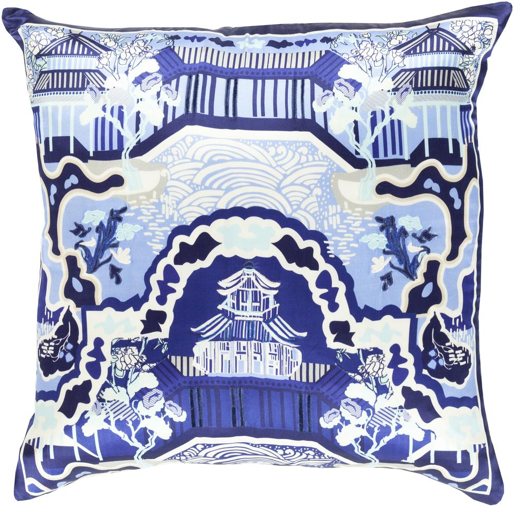 "Surya Pillows 18"" x 18"" Decorative Pillow - Item Number: GE013-1818P"