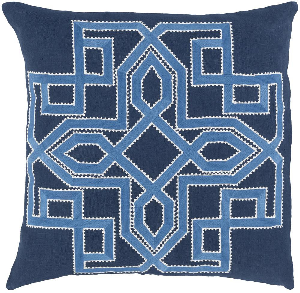 "Surya Rugs Pillows 22"" x 22"" Gatsby Pillow - Item Number: GLD002-2222P"