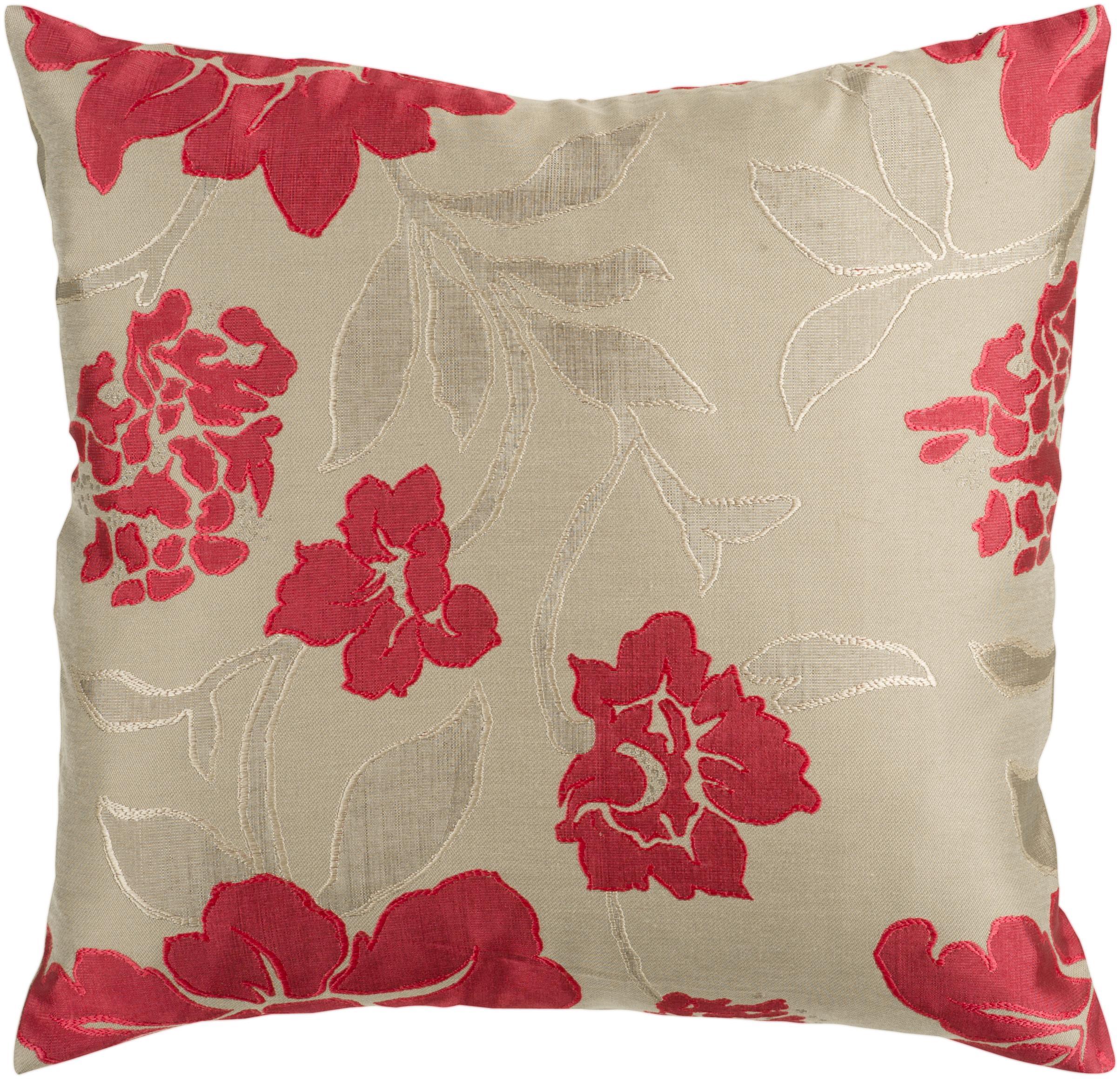 """Surya Pillows 22"""" x 22"""" Pillow - Item Number: HH047-2222P"""