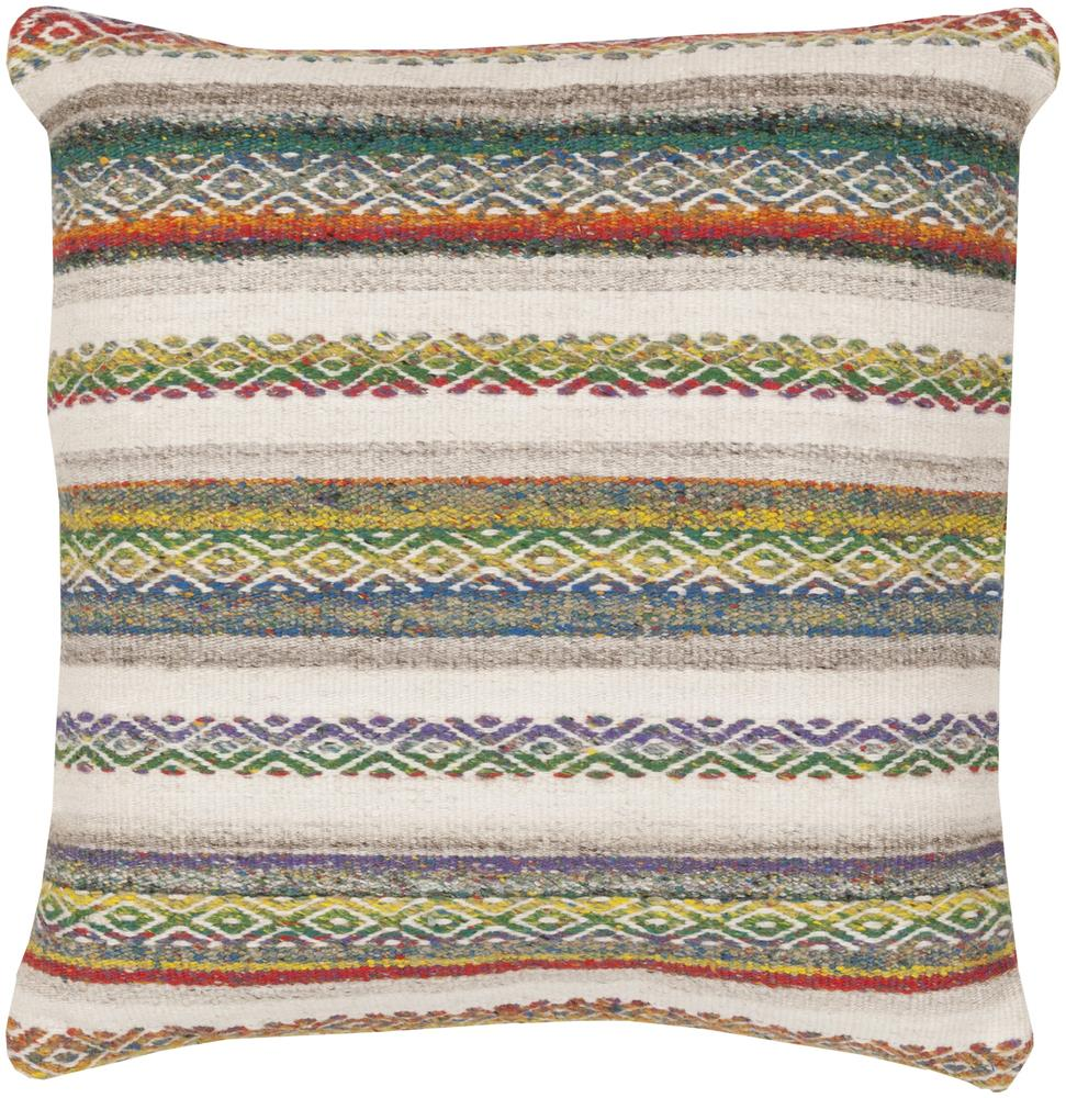 "Surya Pillows 18"" x 18"" Decorative Pillow - Item Number: IB001-1818P"