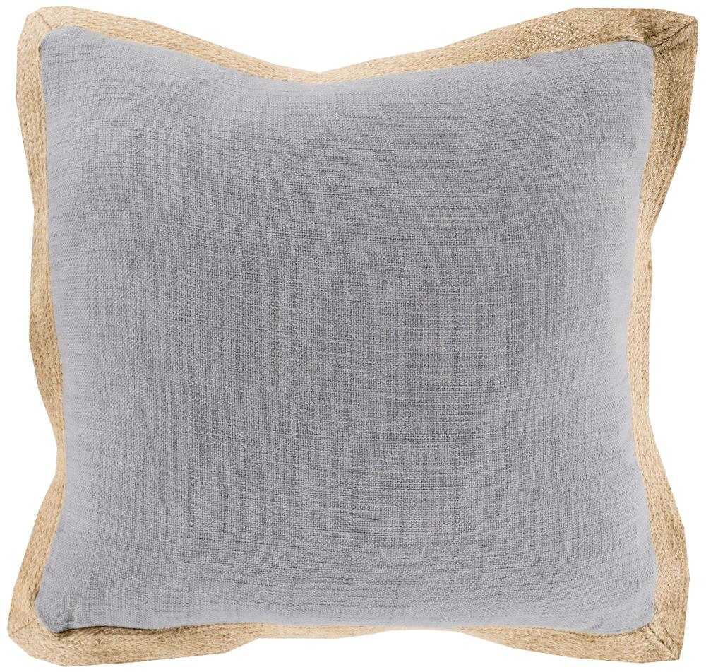 "Surya Pillows 18"" x 18"" Jute Flange Pillow - Item Number: JF003-1818P"