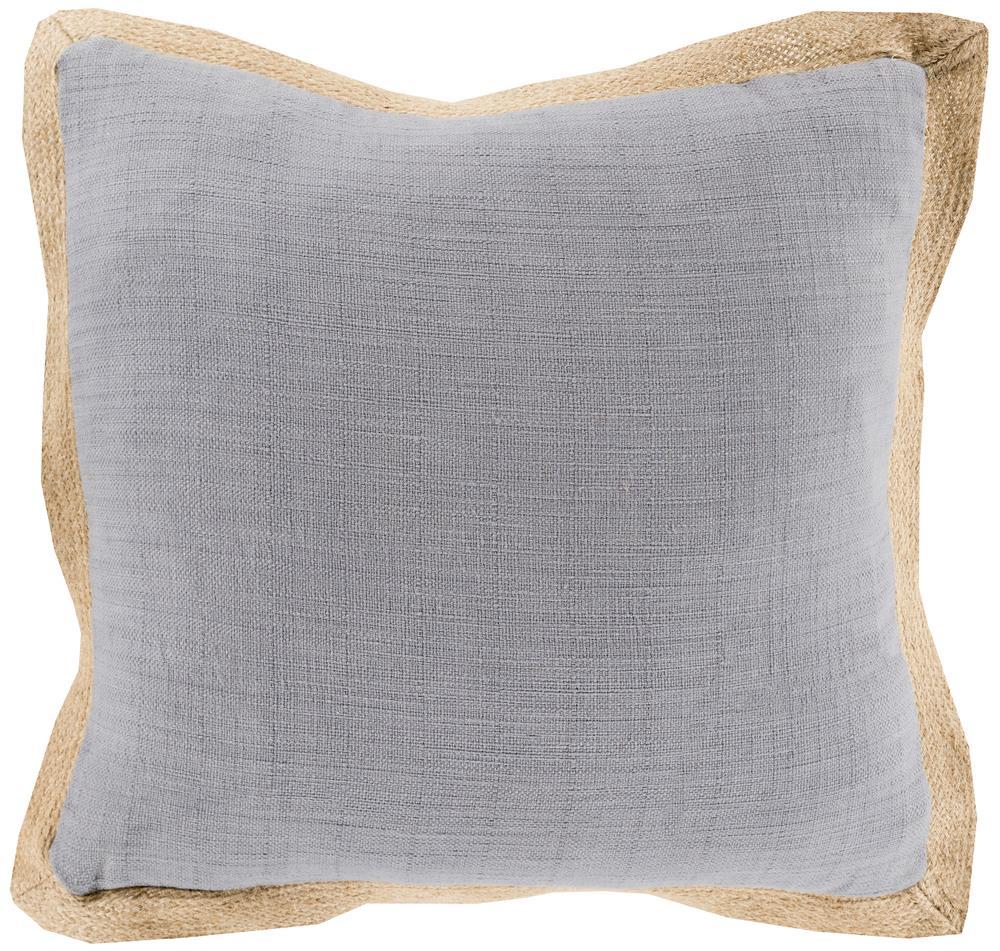 """Surya Pillows 22"""" x 22"""" Jute Flange Pillow - Item Number: JF003-2222P"""