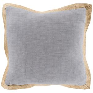 "Surya Pillows 22"" x 22"" Jute Flange Pillow"