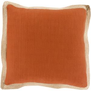 "Surya Rugs Pillows 18"" x 18"" Jute Flange Pillow"
