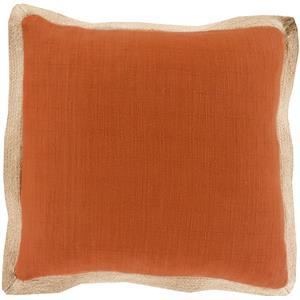 "Surya Pillows 22"" x 22"" Jute Flange Pillow"