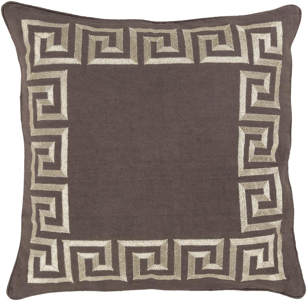 "Surya Pillows 22"" x 22"" Key Pillow - Item Number: KLD004-2222P"