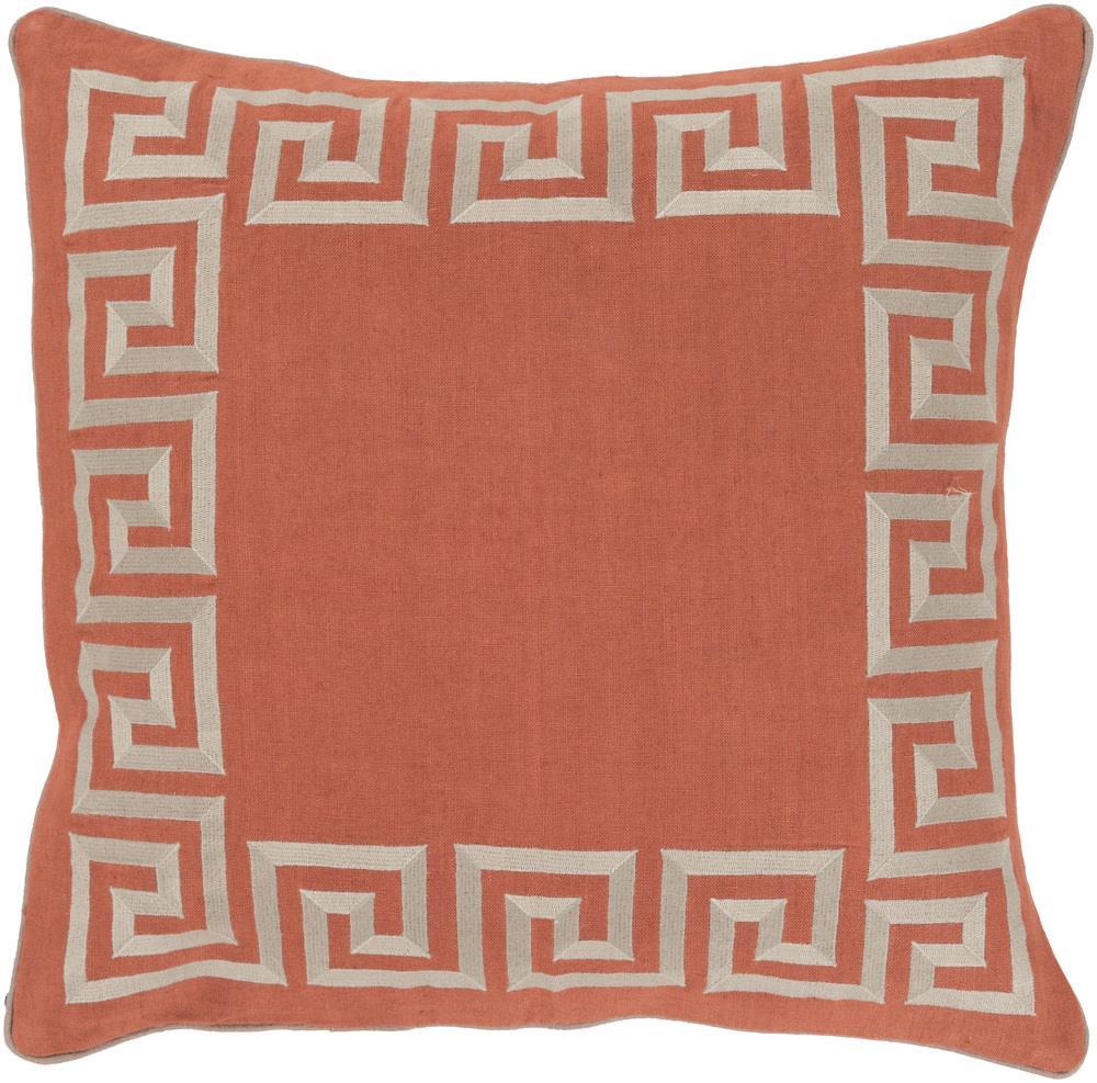 """Surya Pillows 22"""" x 22"""" Key Pillow - Item Number: KLD006-2222P"""