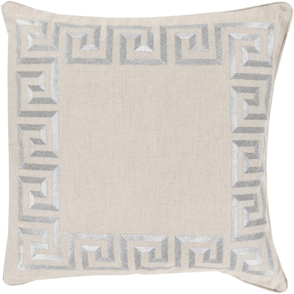 "Surya Rugs Pillows 18"" x 18"" Key Pillow - Item Number: KLD007-1818P"