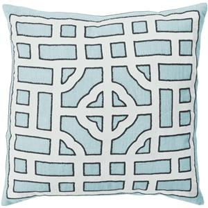 "Surya Rugs Pillows 18"" x 18"" Chinese Gate Pillow"