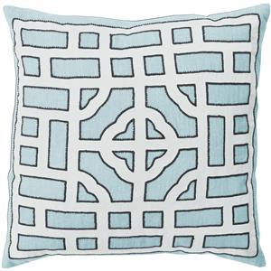 "Surya Rugs Pillows 18"" x 18"" Chinese Gate Pillow"