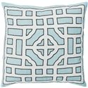 "Surya Pillows 20"" x 20"" Chinese Gate Pillow - Item Number: LD047-2020P"