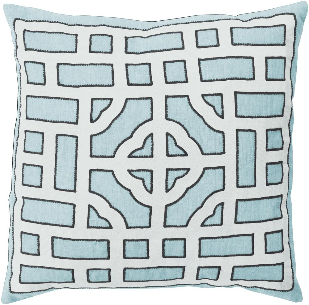 "Surya Pillows 22"" x 22"" Chinese Gate Pillow - Item Number: LD047-2222P"
