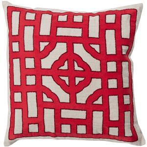 "Surya Pillows 18"" x 18"" Chinese Gate Pillow"