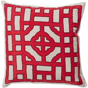 "Surya Rugs Pillows 20"" x 20"" Chinese Gate Pillow"