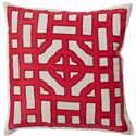 "Surya Rugs Pillows 22"" x 22"" Chinese Gate Pillow - Item Number: LD049-2222P"