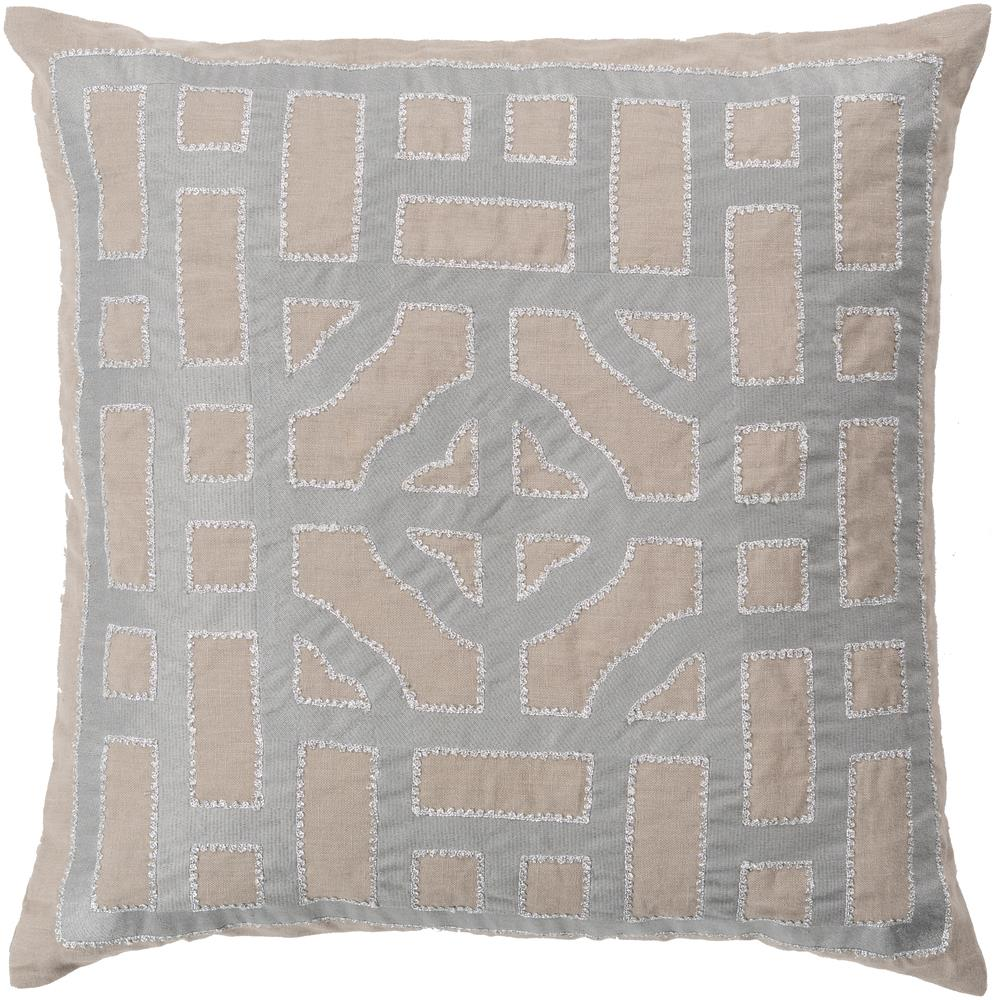 "Surya Pillows 22"" x 22"" Chinese Gate Pillow - Item Number: LD050-2222P"