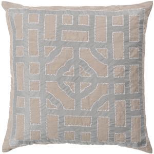 "Surya Rugs Pillows 22"" x 22"" Chinese Gate Pillow"