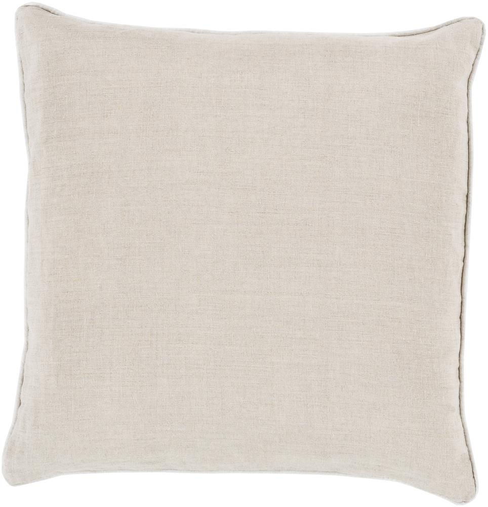 "Surya Pillows 22"" x 22"" Linen Piped Pillow - Item Number: LP008-2222P"