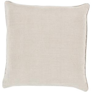 "Surya Rugs Pillows 22"" x 22"" Linen Piped Pillow"