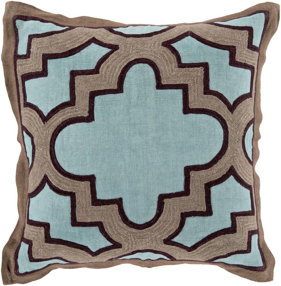 """Surya Pillows 18"""" x 18"""" Maze Pillow - Item Number: MCO001-1818P"""