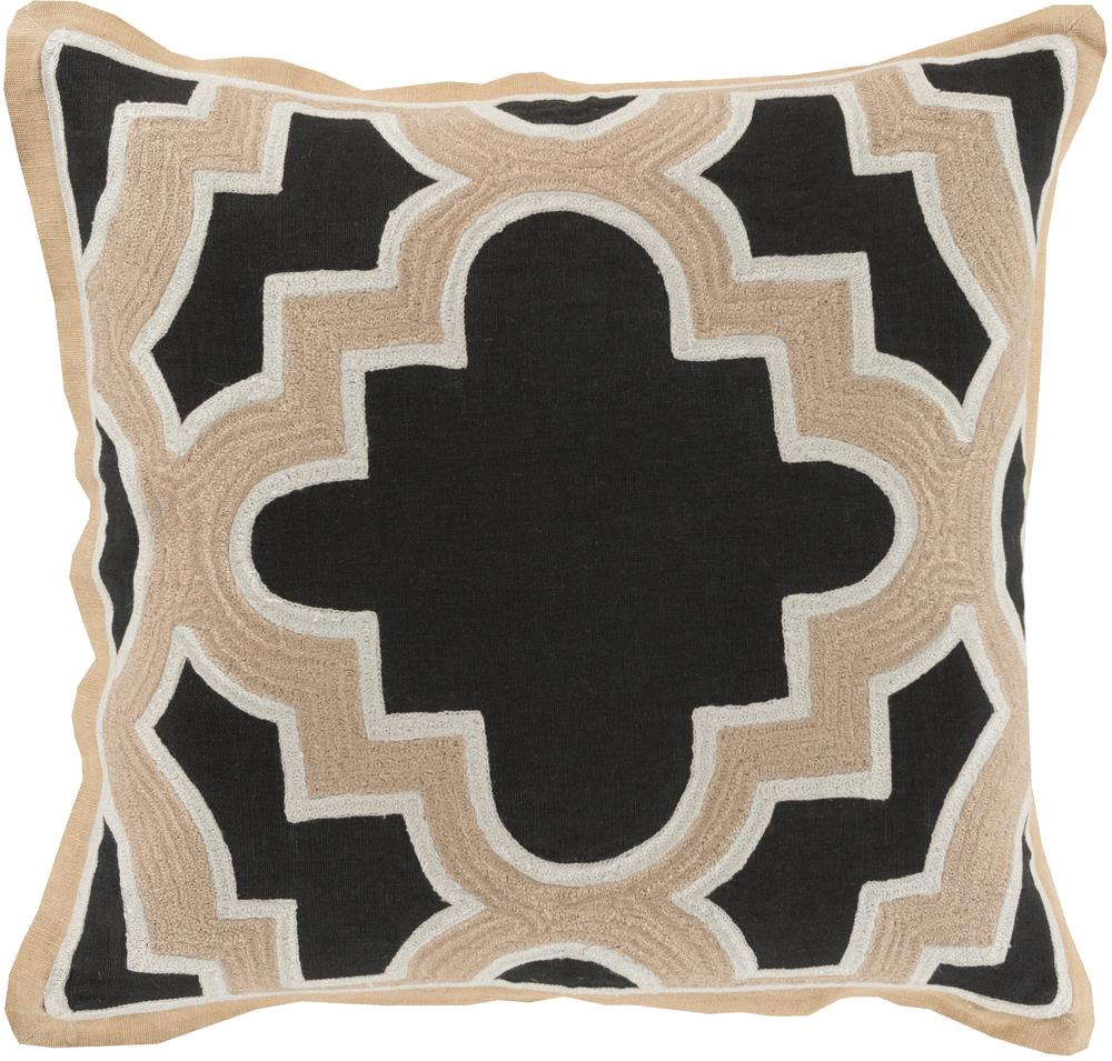 "Surya Pillows 22"" x 22"" Maze Pillow - Item Number: MCO002-2222P"