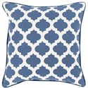 "Surya Pillows 20"" x 20"" Morrocan Printed Lattice Pillow - Item Number: MPL001-2020P"