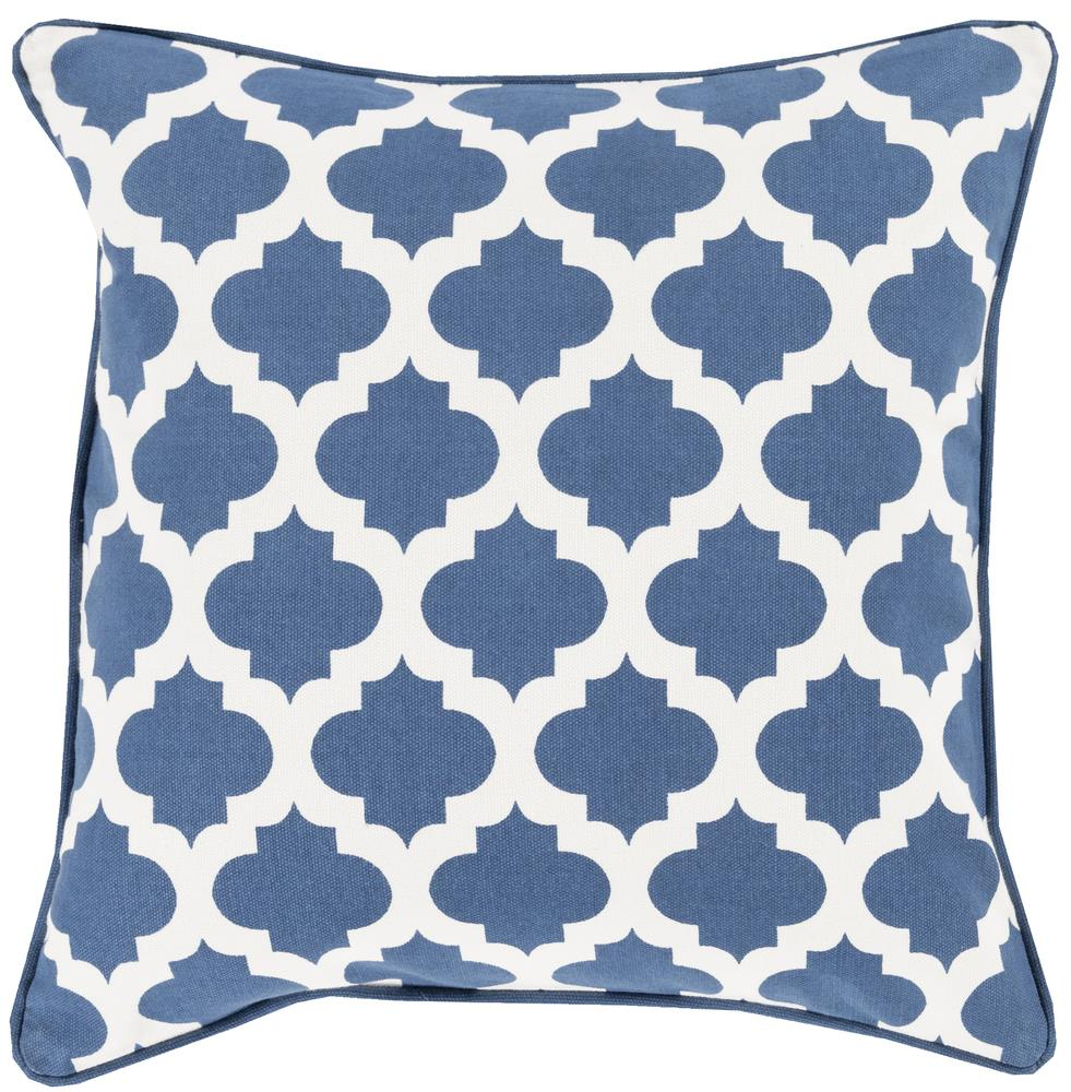 "Surya Pillows 22"" x 22"" Morrocan Printed Lattice Pillow - Item Number: MPL001-2222P"