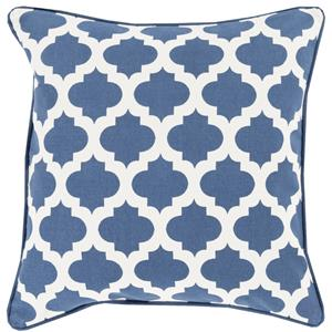 "Surya Rugs Pillows 22"" x 22"" Morrocan Printed Lattice Pillow"
