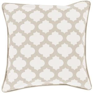 "Surya Pillows 18"" x 18"" Morrocan Printed Lattice Pillow"