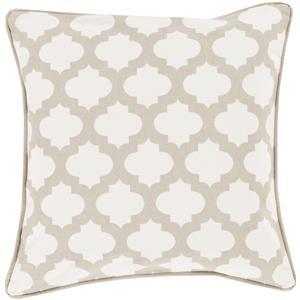 "Surya Pillows 18"" x 18"" Morrocan Printed Lattice Pillow"