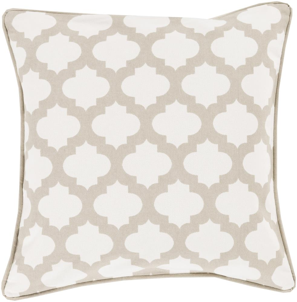 "Surya Rugs Pillows 22"" x 22"" Morrocan Printed Lattice Pillow - Item Number: MPL007-2222P"