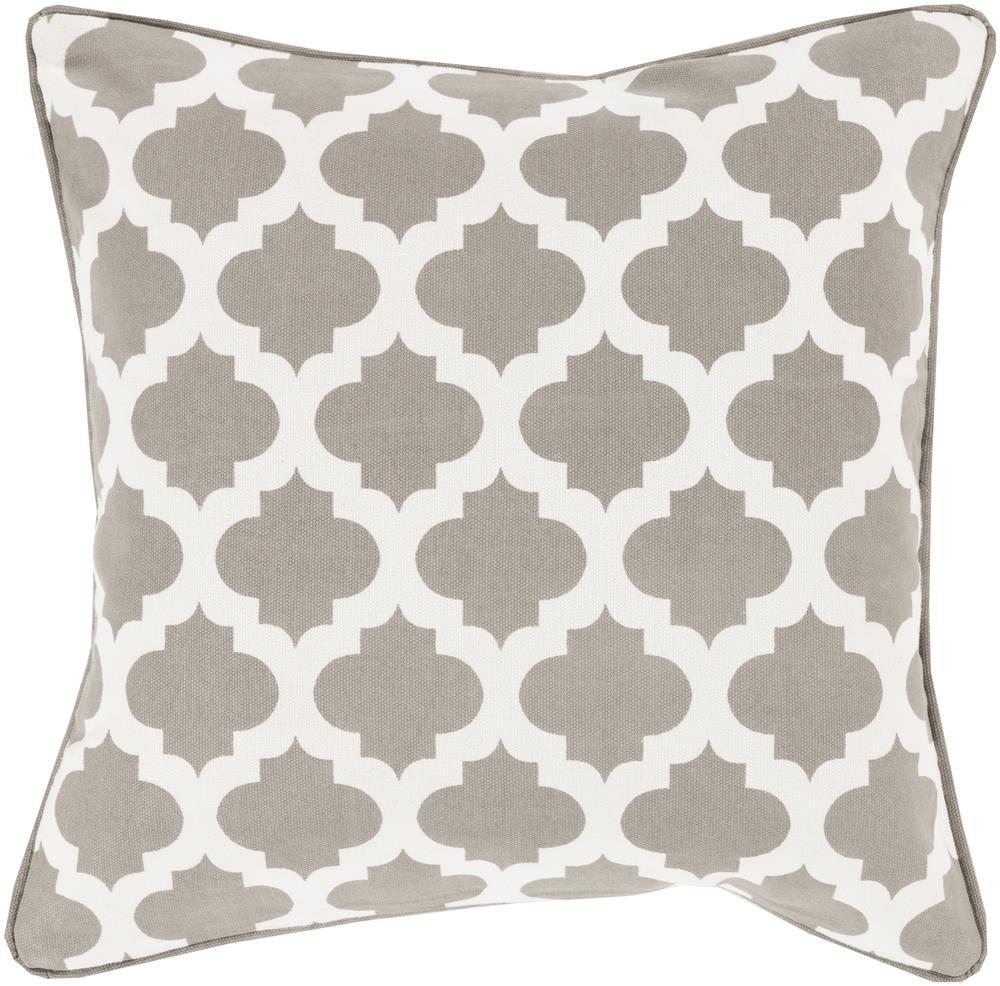 """Surya Pillows 18"""" x 18"""" Morrocan Printed Lattice Pillow - Item Number: MPL008-1818P"""