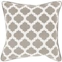 "Surya Rugs Pillows 18"" x 18"" Morrocan Printed Lattice Pillow - Item Number: MPL008-1818P"