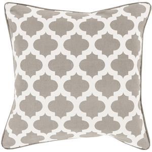 "Surya Pillows 22"" x 22"" Morrocan Printed Lattice Pillow"