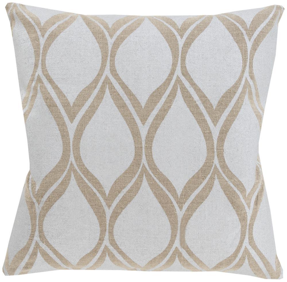"Surya Pillows 20"" x 20"" Metallic Stamped Pillow - Item Number: MS001-2020P"