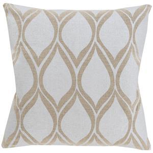 """Surya Pillows 22"""" x 22"""" Metallic Stamped Pillow"""