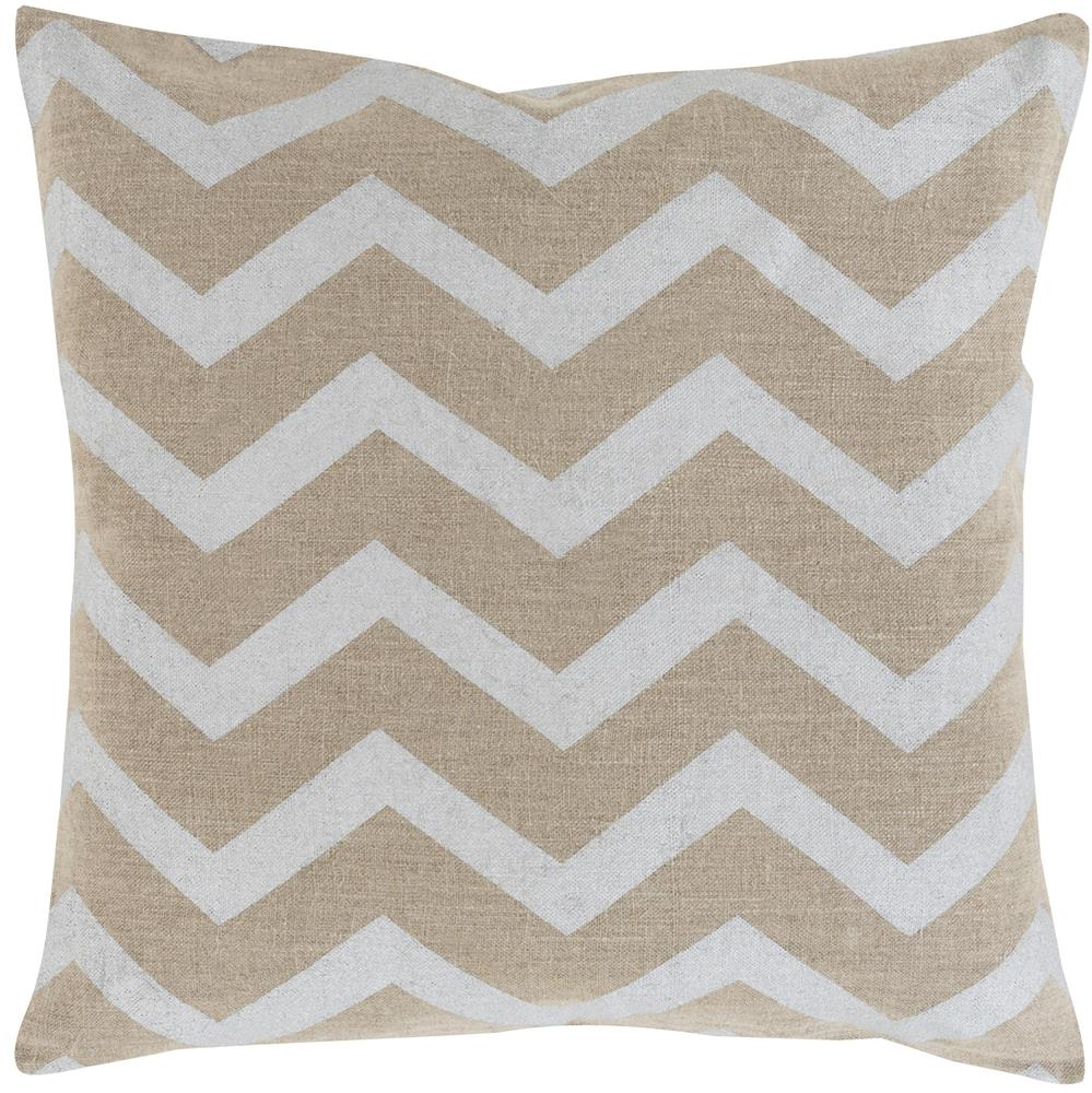 "Surya Pillows 18"" x 18"" Metallic Stamped Pillow - Item Number: MS002-1818P"