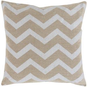 """Surya Rugs Pillows 20"""" x 20"""" Metallic Stamped Pillow"""