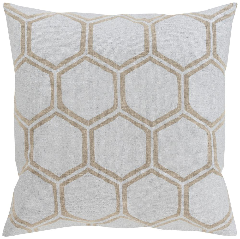 "Surya Pillows 18"" x 18"" Metallic Stamped Pillow - Item Number: MS003-1818P"