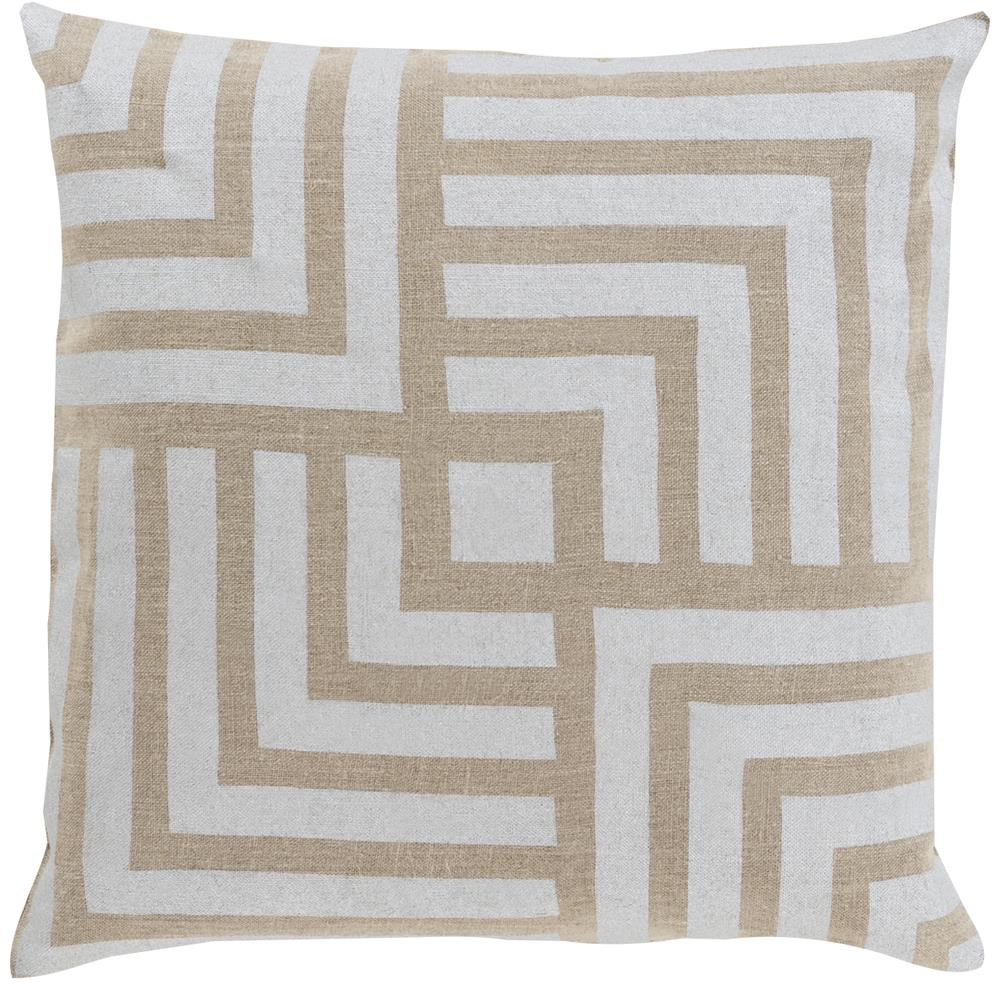 """Surya Rugs Pillows 18"""" x 18"""" Metallic Stamped Pillow - Item Number: MS004-1818P"""
