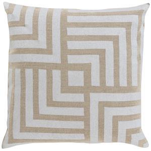 """Surya Pillows 18"""" x 18"""" Metallic Stamped Pillow"""