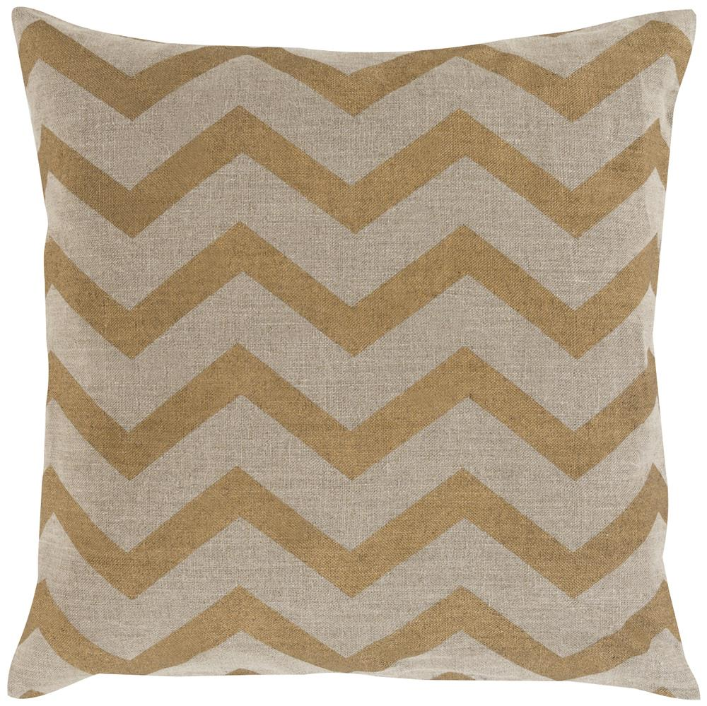 "Surya Rugs Pillows 18"" x 18"" Metallic Stamped Pillow - Item Number: MS005-1818P"