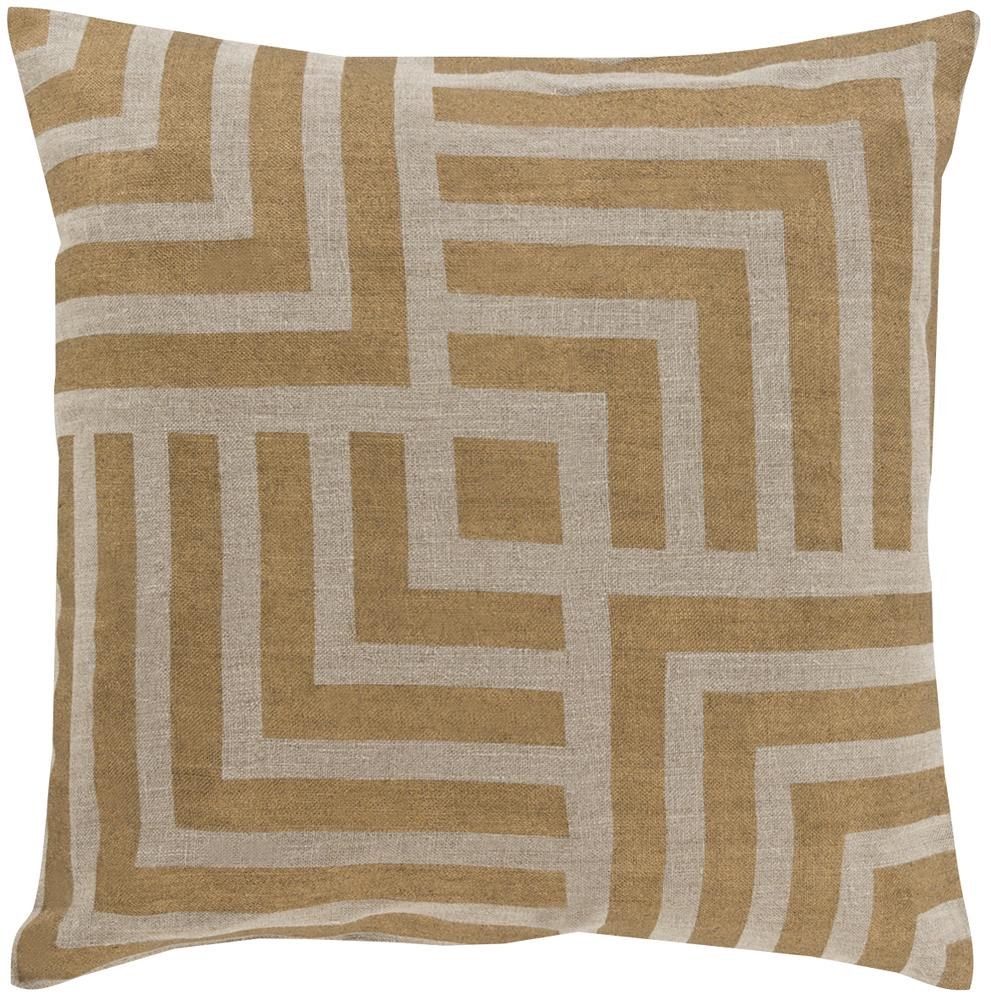 "Surya Rugs Pillows 18"" x 18"" Metallic Stamped Pillow - Item Number: MS006-1818P"
