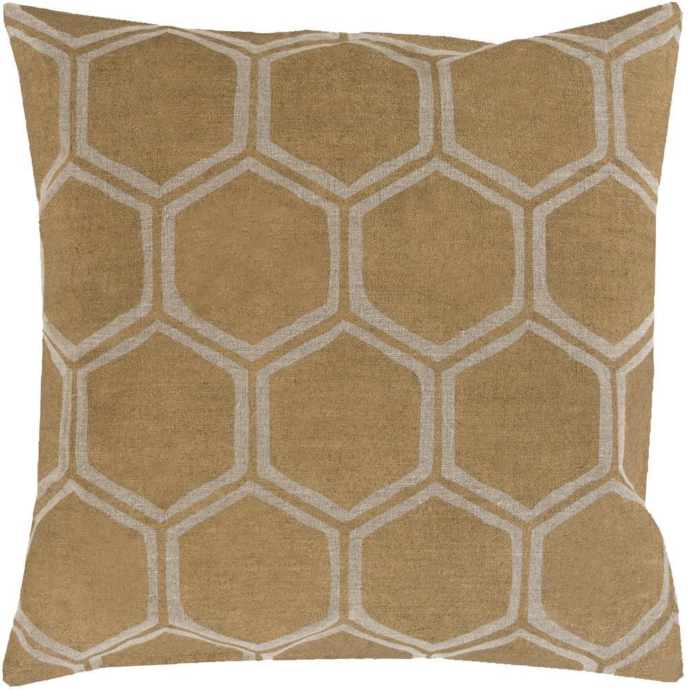 """Surya Rugs Pillows 18"""" x 18"""" Metallic Stamped Pillow - Item Number: MS007-1818P"""