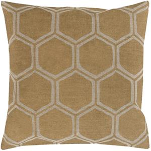 "Surya Rugs Pillows 20"" x 20"" Metallic Stamped Pillow"