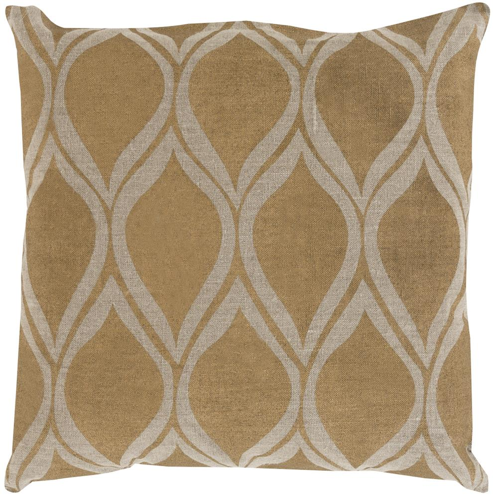"Surya Pillows 22"" x 22"" Metallic Stamped Pillow - Item Number: MS008-2222P"