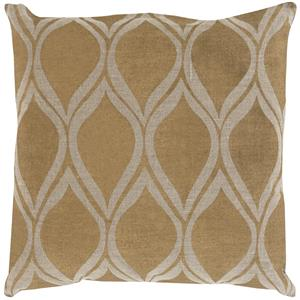 "Surya Pillows 22"" x 22"" Metallic Stamped Pillow"