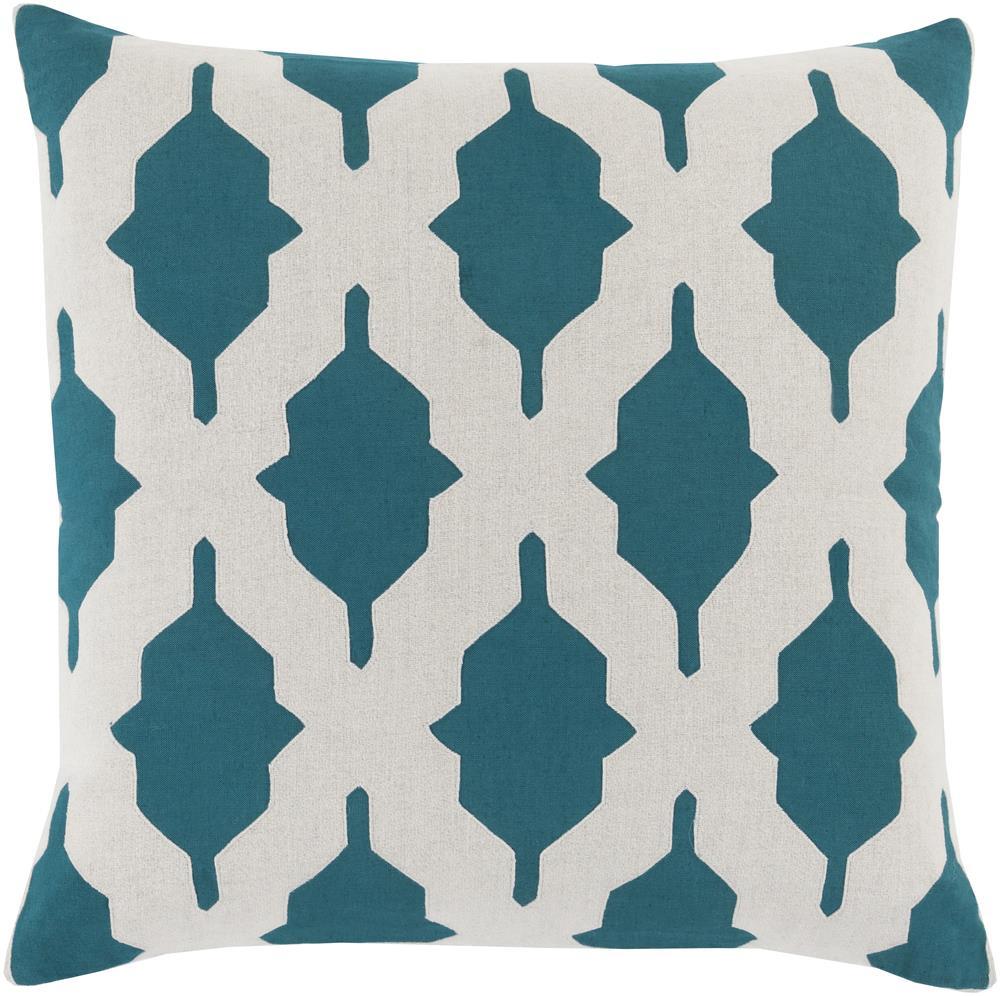 """Surya Pillows 22"""" x 22"""" Decorative Pillow - Item Number: SA007-2222P"""