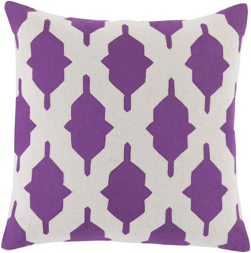 """Surya Pillows 18"""" x 18"""" Decorative Pillow - Item Number: SA008-1818P"""